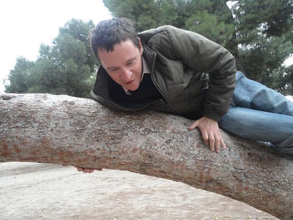 Brian climbing trees