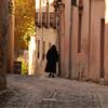 A wandering nun