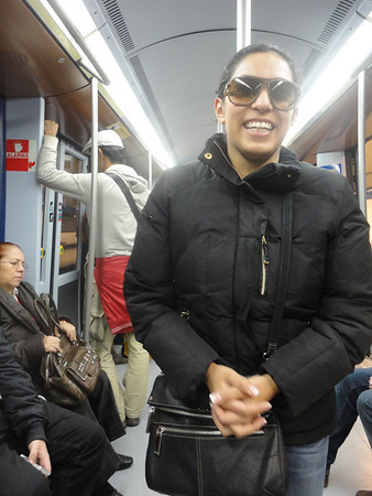Erica on the subway