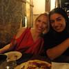 Christine and Erica last night in Madrid