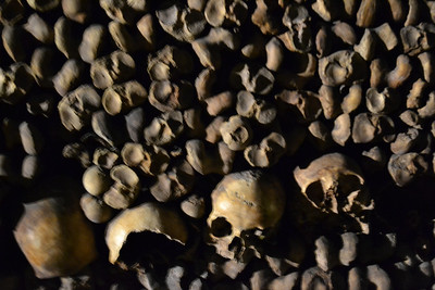 The catacombs of Paris holds approximately 6 million people's remains.