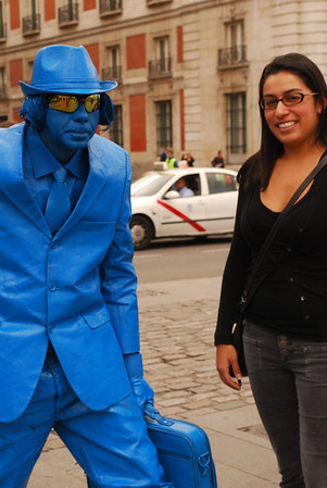 Erica and the blue man