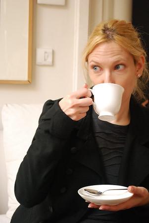 Christine and her coffee