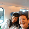 Thia and I on train to Segovia