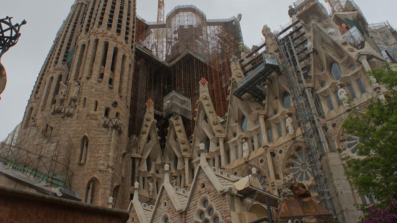 Gaudí's unfinished masterpiece, the Sagrada Família.