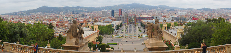 View of Barcelona from National Art Museum of Catalonia.