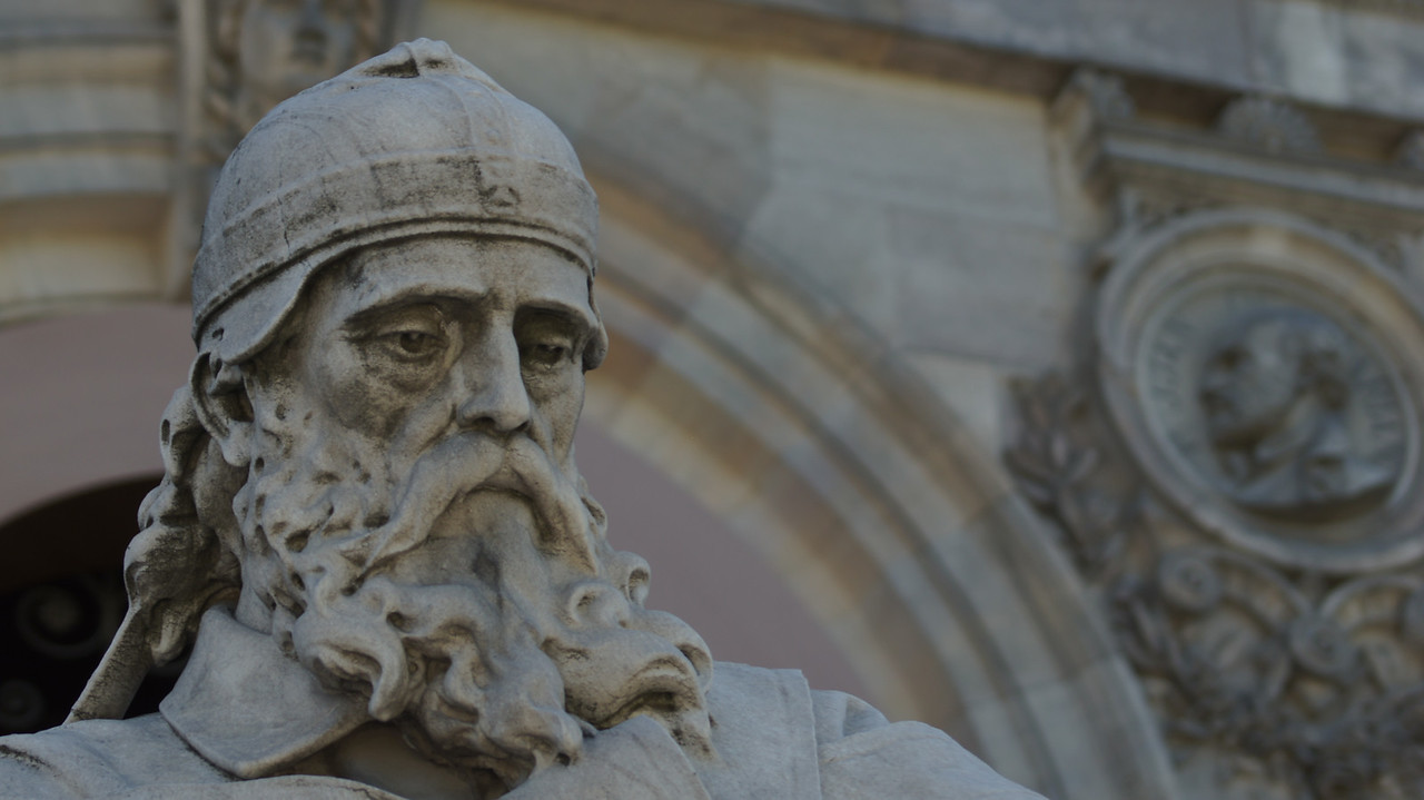 Saint Isidore of Seville at national library.