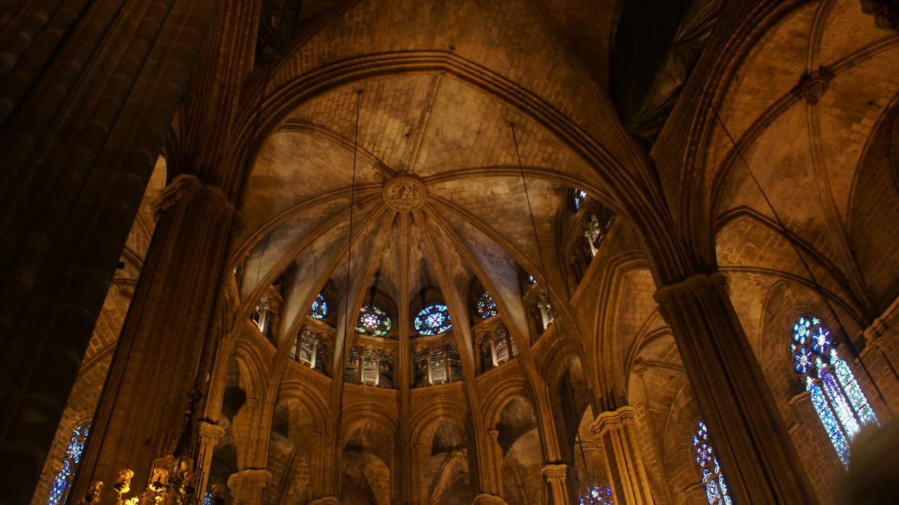 Barcelona Cathedral interior.