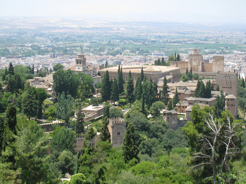 Granada - a view of the Alhambra from above the city (taken during an off-road Segway tour).