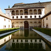 Granada - one of the tranquil pools inside the Alhambra palace.