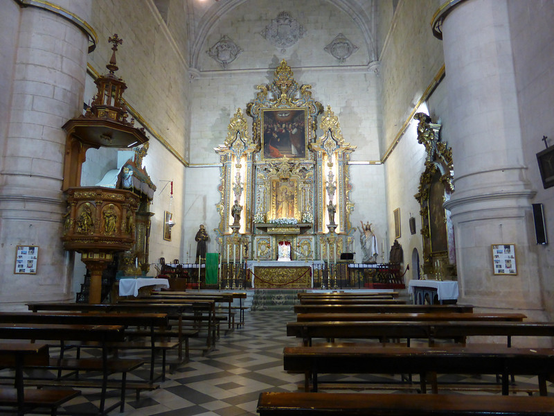 "Ronda - the interior of the beautiful Churches shown in the previous photo.  It was very tranquil inside, with beautiful music.  It was a great place to just ""enjoy the moment""."