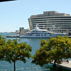 "Barcelona - another view of one of the ""super yachts""."