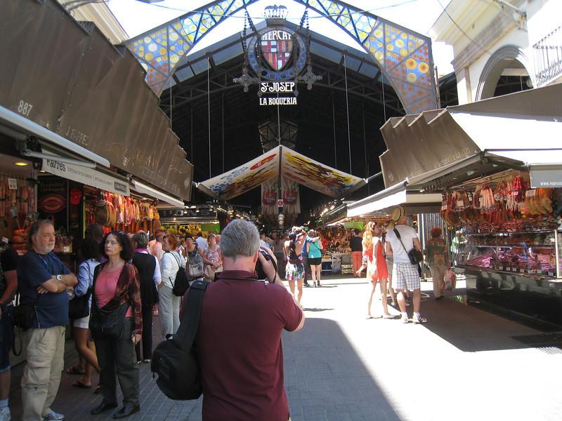 Barcelona - the entrance to the famous La Boqueria market.