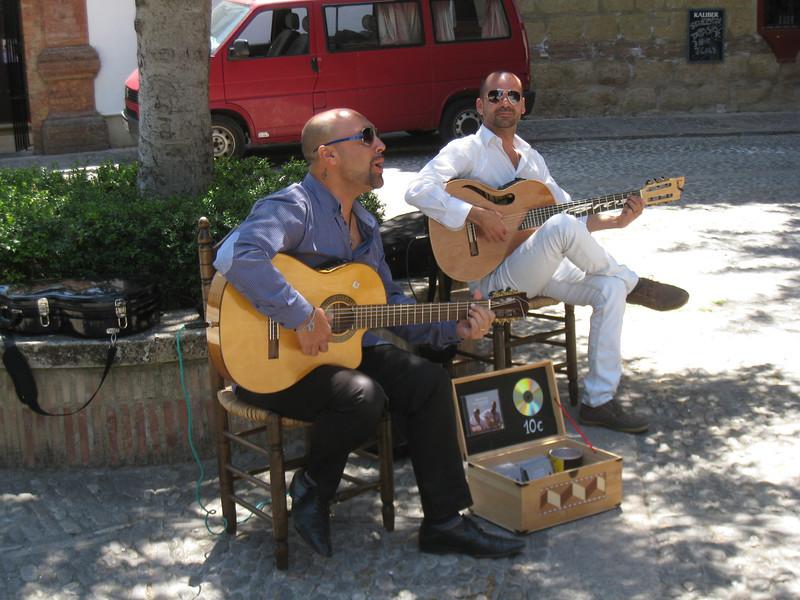 Ronda - some street musicians.