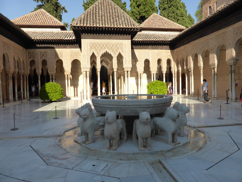 Granada - one of the interior court yards of the Palacio Nazaríes.
