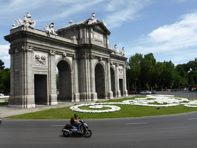 Madrid - this (I believe) is the Puerta de Alcalá, which was one of the original gates to access the walled city.