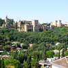 Granada - the Alhambra which is a huge Moorish palace and fortress.  This was the last location taken by Christians in the reconquista of 1492, forcing out the Moorish rulers.