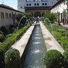 Granada - one of the fountains in the Generalife gardens.