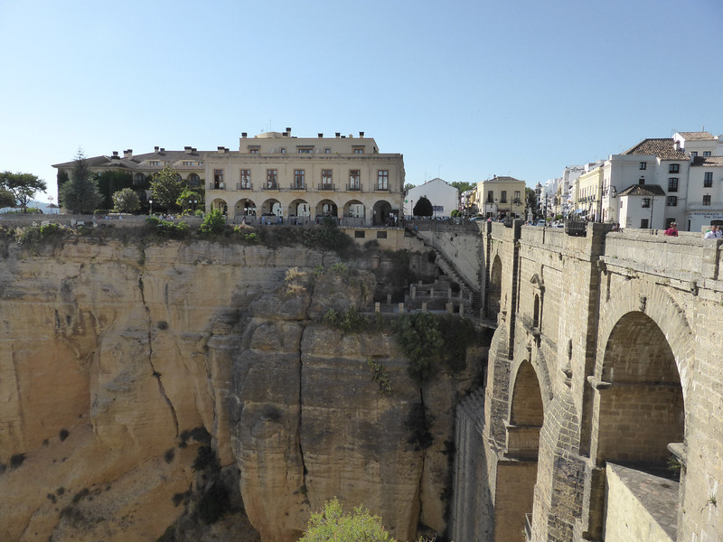"Ronda - the bridge and gorge area, looking towards the ""new"" part of the city."
