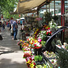 Barcelona - one of the many colourful shops along La Rambla.