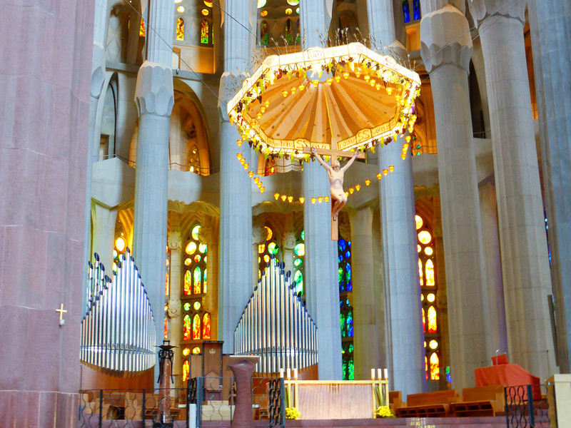 Barcelona - the altar area of Sagrada Familia.