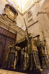 The tomb of Christopher Columbus in the Seville Cathedral.
