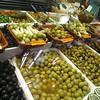 Olives, etc, in the Barcelona market (La Boqueria)