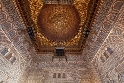 Beautiful ceiling inside the Alcázar.