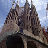 Gaudi's yet unfinished Sangrada Famila, Barcelona