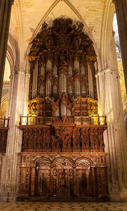 The organ at the Seville Cathedral.