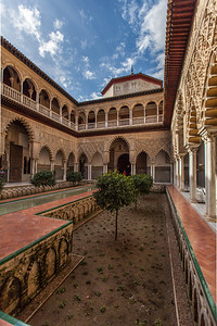 Courtyard of the Maidens inside the Alcázar.