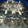 Antoni Gaudi's Casa Batllo just a block from our Barcelona hostel