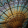 Inside the Palau de Musica, Barcelona