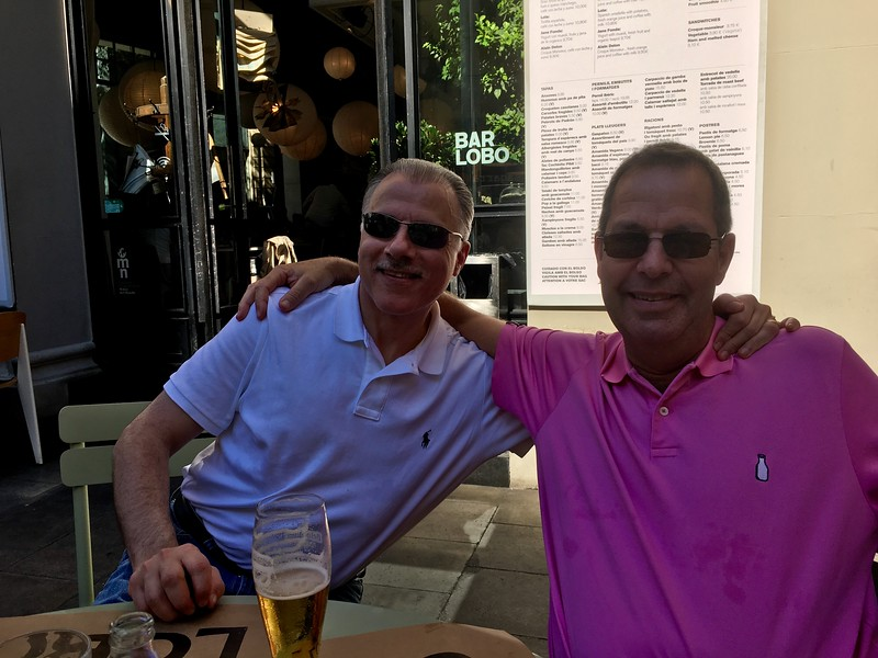 Paul and Rick, first lunch in Barcelona
