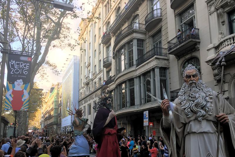 La Merce' parade on La Rambla