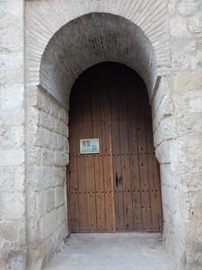 door wider at bottom due to carts rubbing