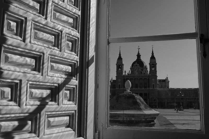 View from inside Palacio Real