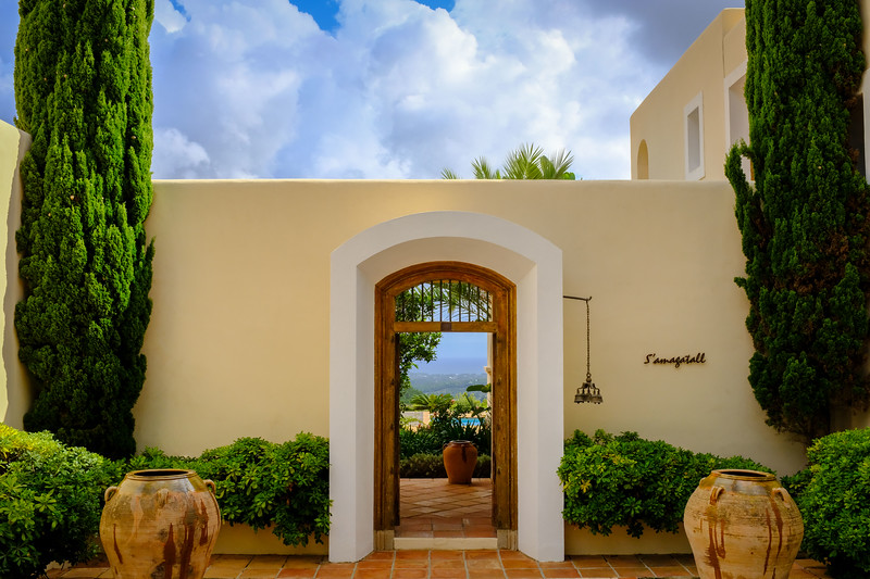 Entrance to a villa in the hills