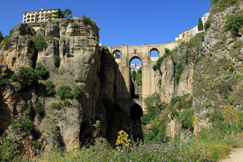 Puente Nuevo viewed from the canyon, Ronda.