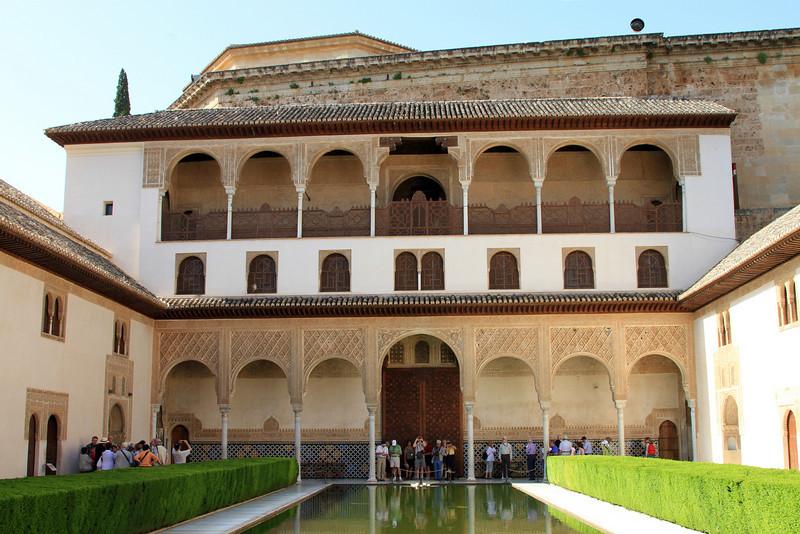 Patio de Arrayanes inside Palacio Nazaries, Alhambra, Granada.