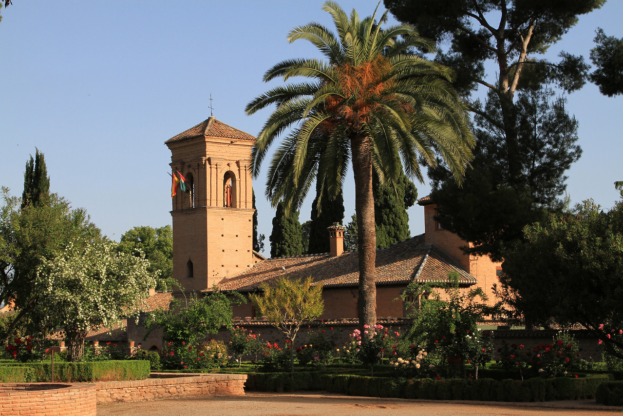 Part of the gardens, Alhambra, Granada.