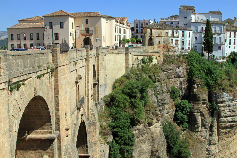 Puente Nuevo (bridge) and buildings, Ronda.
