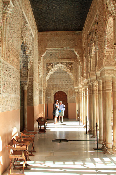 External corridor, Palacio Nazaries, Alhambra, Granada.