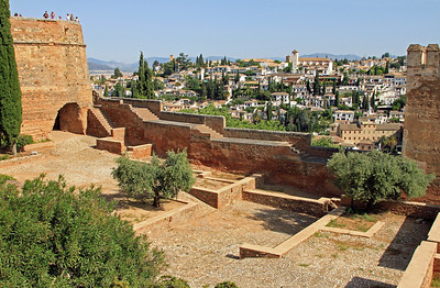 13th century fort Alcazaba inside Alhambra, Granada.