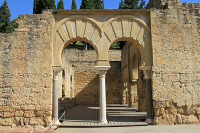 Arches at Medina Azahara, outside Cordoba.