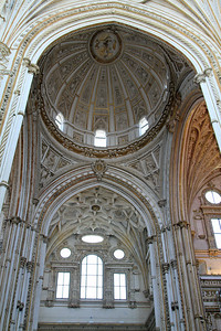 The cathedral inside the Mezquita, Cordoba.
