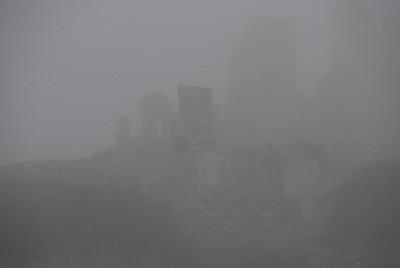 Belchite in the fog.