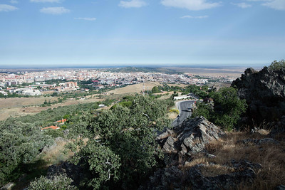 Cáceres and one of the great plains in Extremadura beyond.