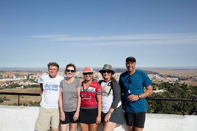 The trekkers:  Dana, Dana, Cherry, Melissa and Jeff (l-r)