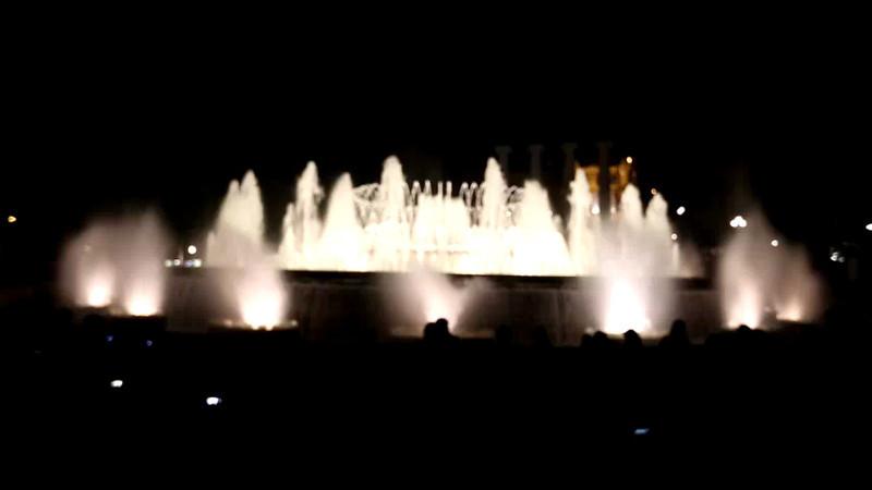 The beautiful water light show.